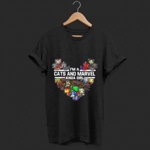 Official I'm A Cats And Marvel Kinda Girl Marvel Avengers Endgame shirt