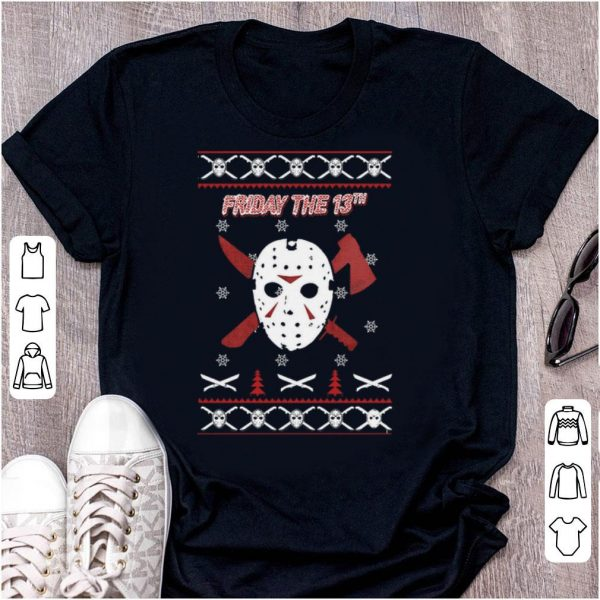 Official Jason Voorhees Friday the 13th ugly Christmas shirt
