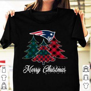 Official New England Patriots Merry Christmas Tree Football Team shirt
