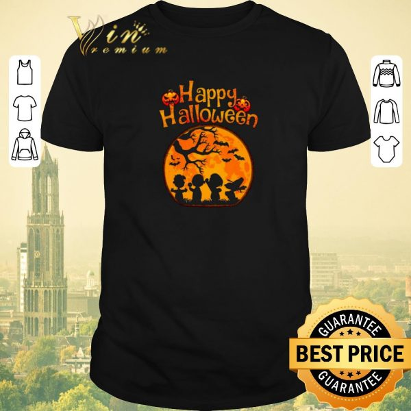 Official Peanuts characters Happy halloween shirt