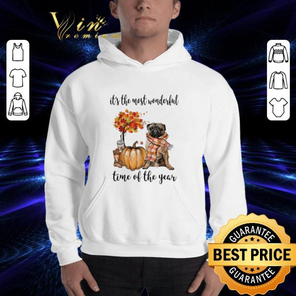 Official Pug it's the most wonderful time of the year shirt