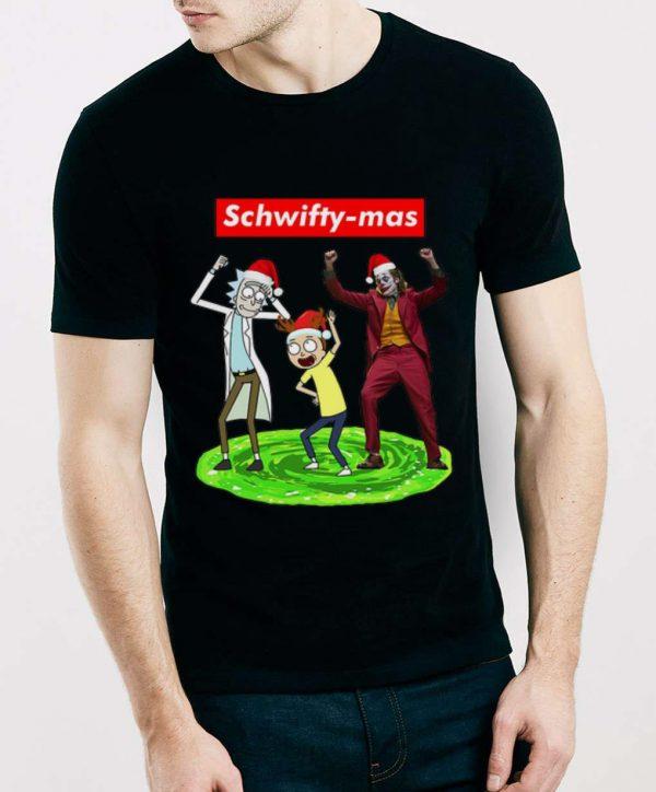 Official Schwifty-mas Rick Morty And Joker Dancing shirt