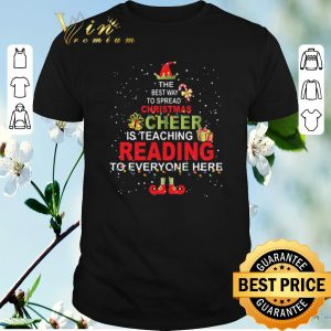 Official The best way to spread Christmas is teaching reading shirt sweater