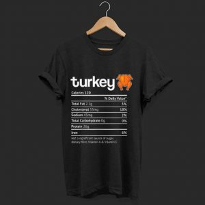 Official Turkey Nutrition Facts Funny Thanksgiving Halloween Costume shirt