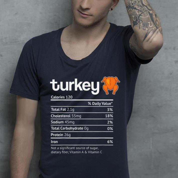 Official Turkey Nutrition Facts Funny Thanksgiving Halloween Costume shirt 4 - Official Turkey Nutrition Facts Funny Thanksgiving Halloween Costume shirt