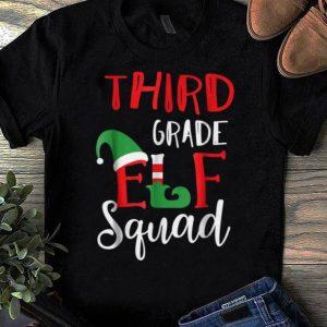 Original Christmas Elf Squad Third Grade Teacher Gift shirt