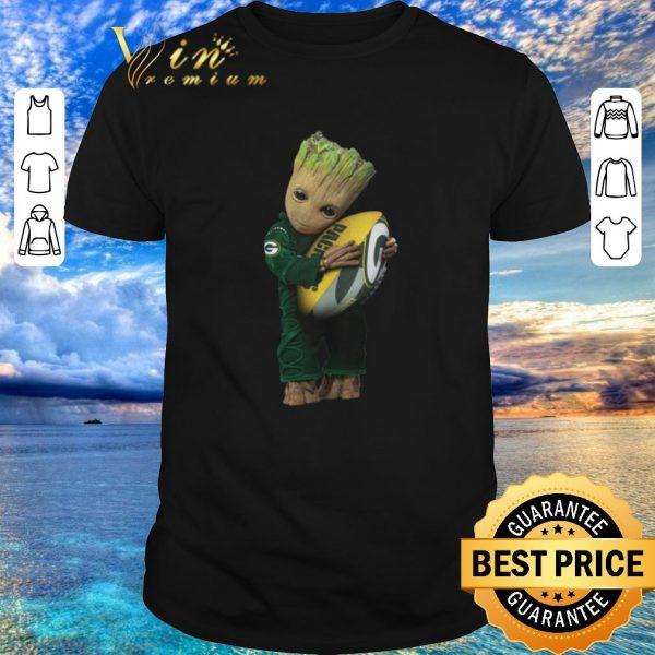 Original Green Bay Packers Baby Groot hug rugby ball shirt 2020