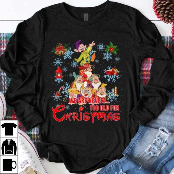 Original Grumpy Christmas Tree We Are Never Too Old For Christmas shirt