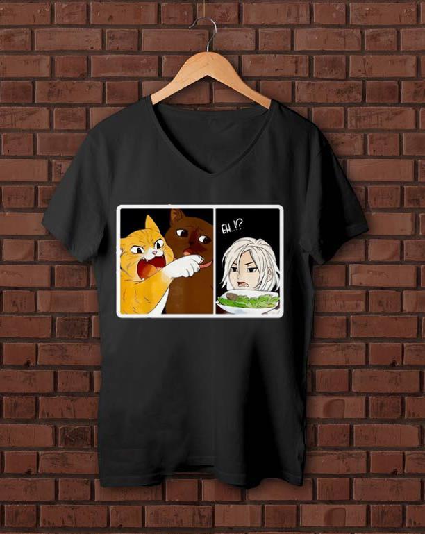 Original Madoka Yelling And Garfield Woman Yelling At Cat Meme Shirt Bank Shirt