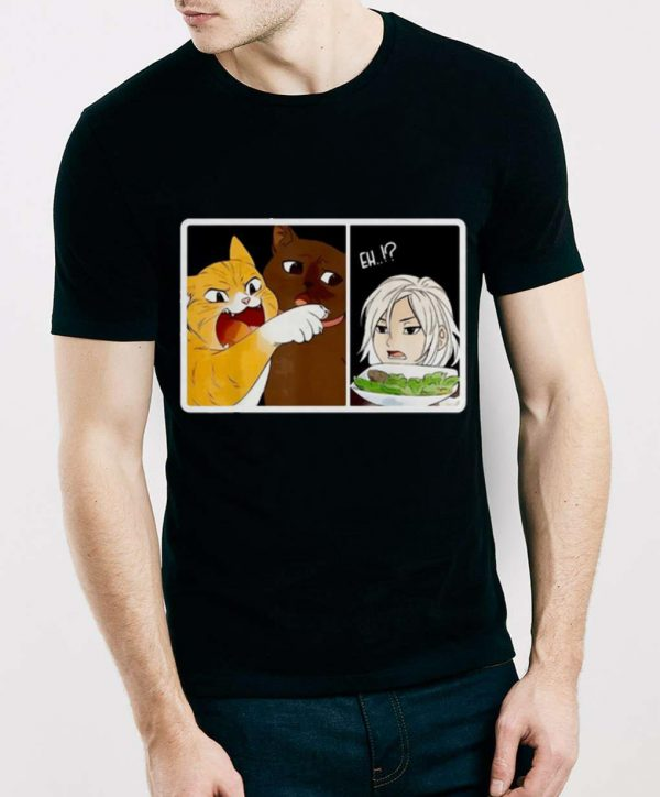 Original Madoka Yelling And Garfield Woman Yelling At Cat Meme shirt