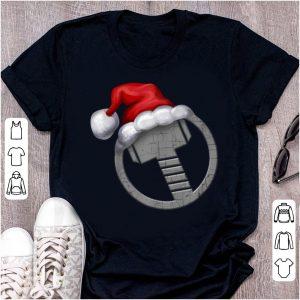 Original Marvel Thor Hammer Icon Santa Hat Christmas Graphic shirt