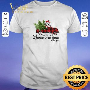 Original Snoopy Truck It's The Most Wonderful Time Of The Year Christmas shirt sweater