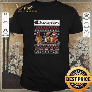 Premium Champion Lebron James Kobe Bryant Michael Jordan ugly Christmas shirt sweater