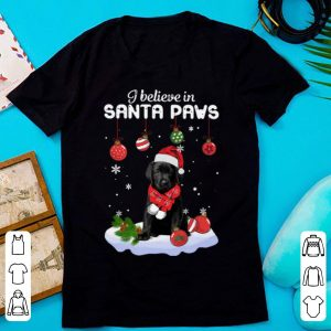 Premium Christmas Labrador Retriever I Believe In Santa Paws shirt