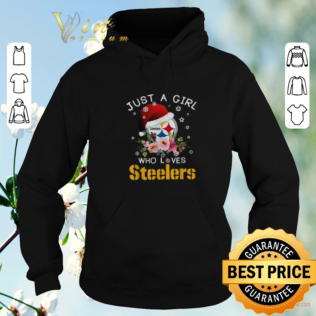 Premium Christmas just a girl who loves Pittsburgh Steelers shirt sweater 4 - Premium Christmas just a girl who loves Pittsburgh Steelers shirt sweater