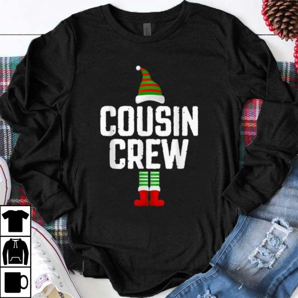 Premium Cousin Crew Elf Squad Family Group Matching Christmas Pajama shirt