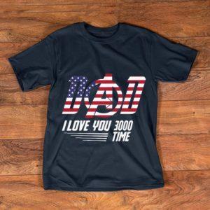 Premium Dad I Love You 3000 Time American Flag Iron Man shirt