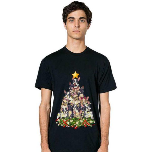 Premium French Bulldog dog Christmas Light decor Xmas tree Pajamas shirt