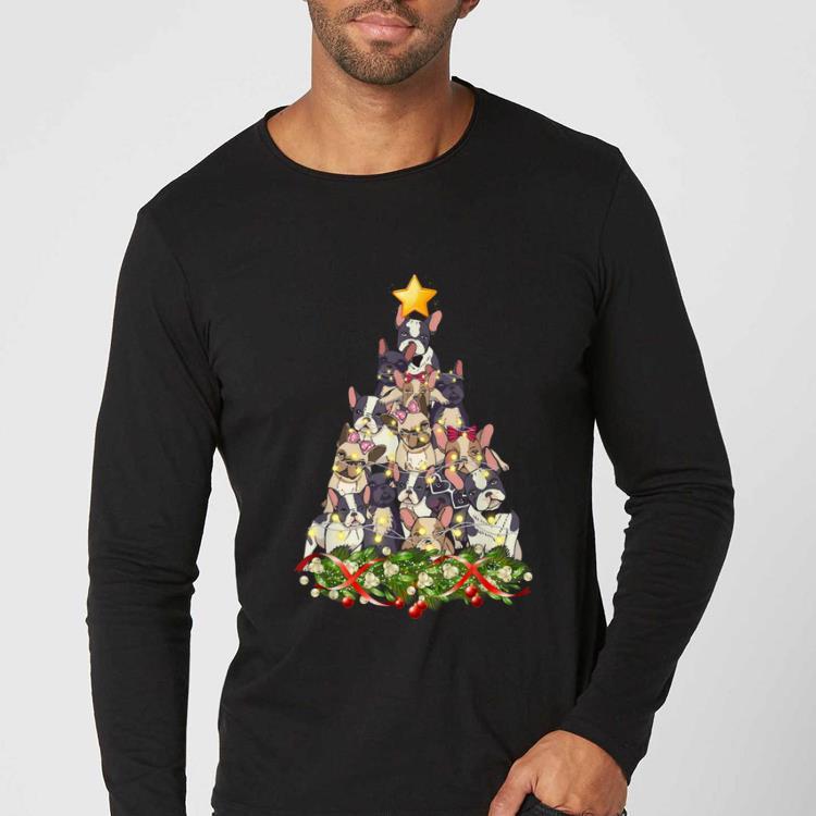 Premium French Bulldog dog Christmas Light decor Xmas tree Pajamas shirt 4 - Premium French Bulldog dog Christmas Light decor Xmas tree Pajamas shirt