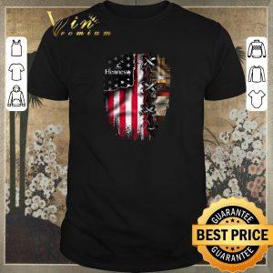 Premium Hennessy inside American flag shirt
