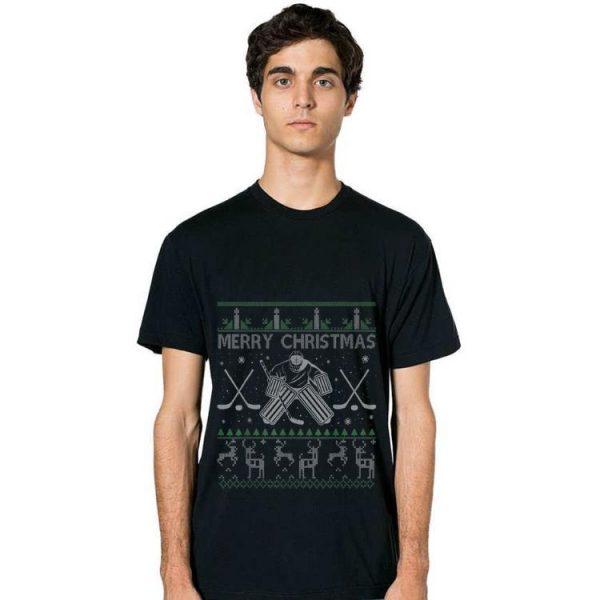 Premium Ice Hockey Goalkeeper Tee Christmas Ugly Sweater Xmas Gifts shirt