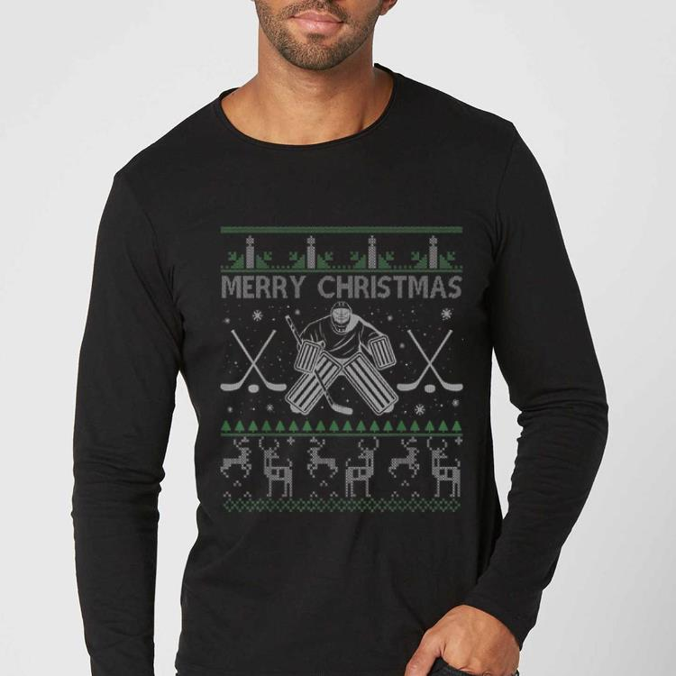 Premium Ice Hockey Goalkeeper Tee Christmas Ugly Sweater Xmas Gifts shirt 4 1 - Premium Ice Hockey Goalkeeper Tee Christmas Ugly Sweater Xmas Gifts shirt