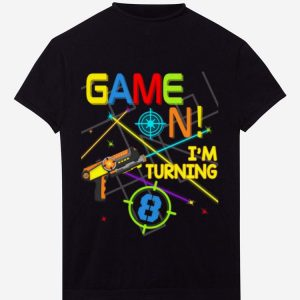 Premium Laser Tag Birthday Party Game On Im Turning 8 shirt