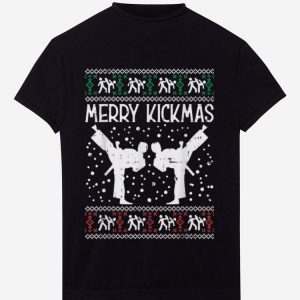 Premium Merry Kickmas Ugly Christmas Karate Jiu Jitsu Martial Gift shirt