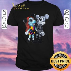 Premium Mickey Mouse Jack Skellington and Sally style shirt