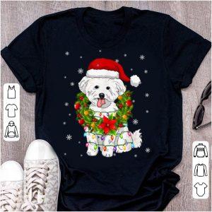 Premium Santa Bichon Frise Dog With Christmas Lights Dog Lovers shirt