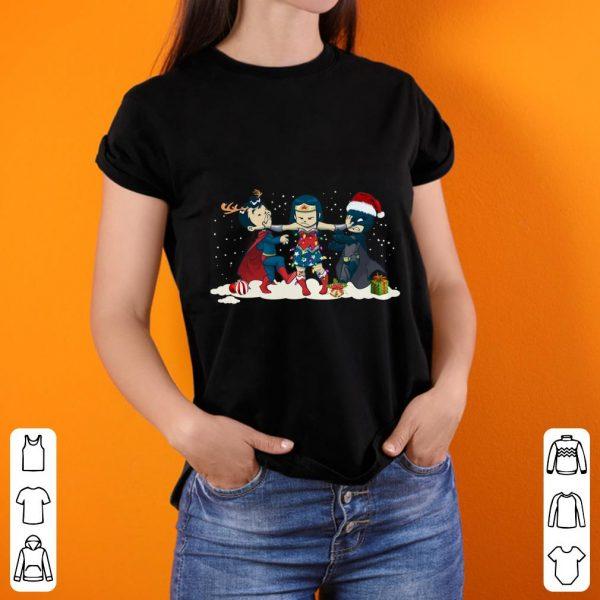 Premium Wonder Woman Batman Vs Superman Chibi Christmas shirt