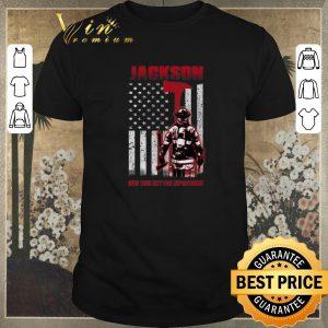 Pretty American flag Jackson New York city fire department shirt
