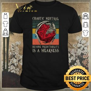 Pretty Chaotic Neutral because predictability is a weakness vintage shirt sweater
