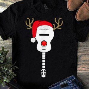 Pretty Christmas Guitar santa hat reindeer antlers for kids adults shirt