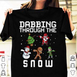 Pretty Dabbing Through The Snow Christmas Tree Santa Elf Snowman sweater