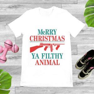 Pretty Merry Christmas Ya Filthy Animal shirt