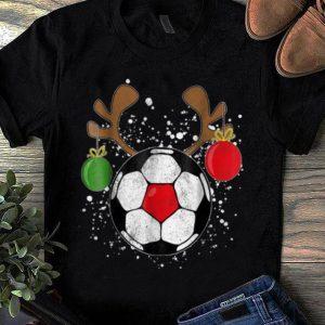Pretty Reindeer Soccer Christmas Rednose Pajama shirt