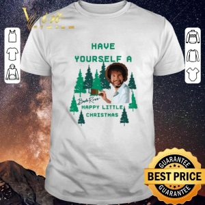 Pretty Signature Bob Ross Have yourself a happy little Christmas shirt
