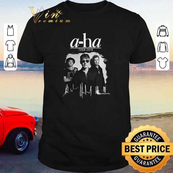 Pretty Signatures A-ha tour 2019 shirt