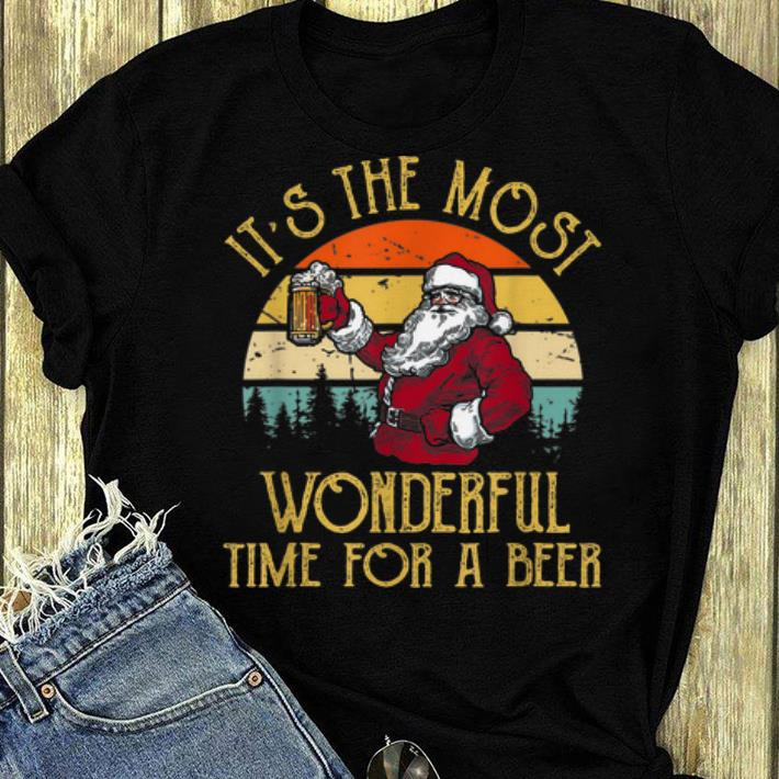 Pretty Vintage Santa Claus It s The Most Wonderful Time For A Beer shirt 4 - Pretty Vintage Santa Claus It's The Most Wonderful Time For A Beer shirt