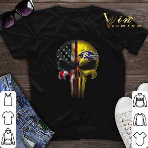 Punisher Skull American flag Baltimore Ravens shirt sweater