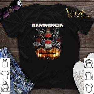 Signatures Rammstein guitarist shirt