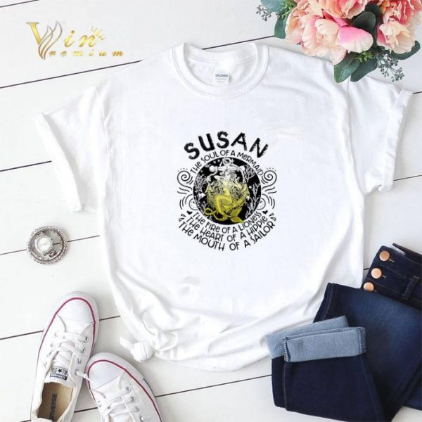 Susan the soul of a mermaid the fire of a lioness hippie sailor shirt sweater