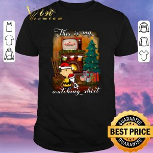 Top Charlie Brown Snoopy This is my Hallmark Christmas movie watching shirt sweater