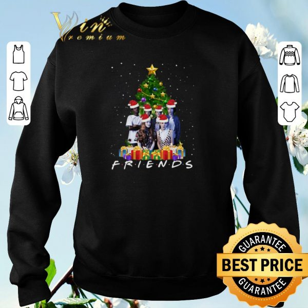 Top Christmas tree Friends Stranger Things Characters shirt