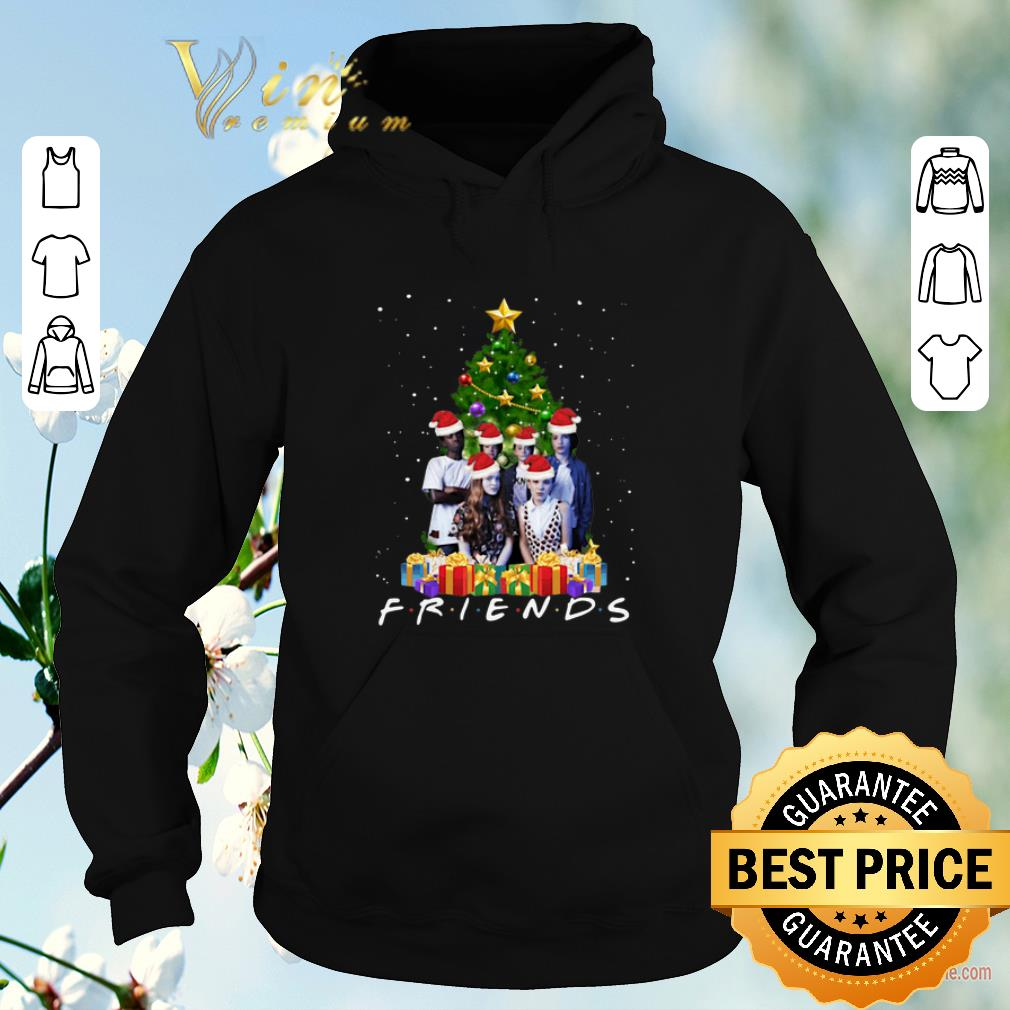 Top Christmas tree Friends Stranger Things Characters shirt 4 - Top Christmas tree Friends Stranger Things Characters shirt