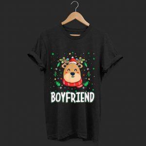 Top Cute Boyfriend Reindeer Santa Ugly Christmas Family Matching shirt