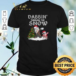 Top Dabbin Through The Snow Old English Sheepdog Christmas shirt sweater