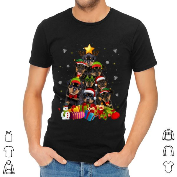 Top Funny Rottweiler Christmas Tree Gifts Xmas sweater