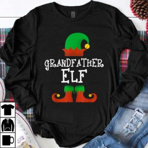 Top Grandfather Elf Christmas Funny Xmas Gift shirt
